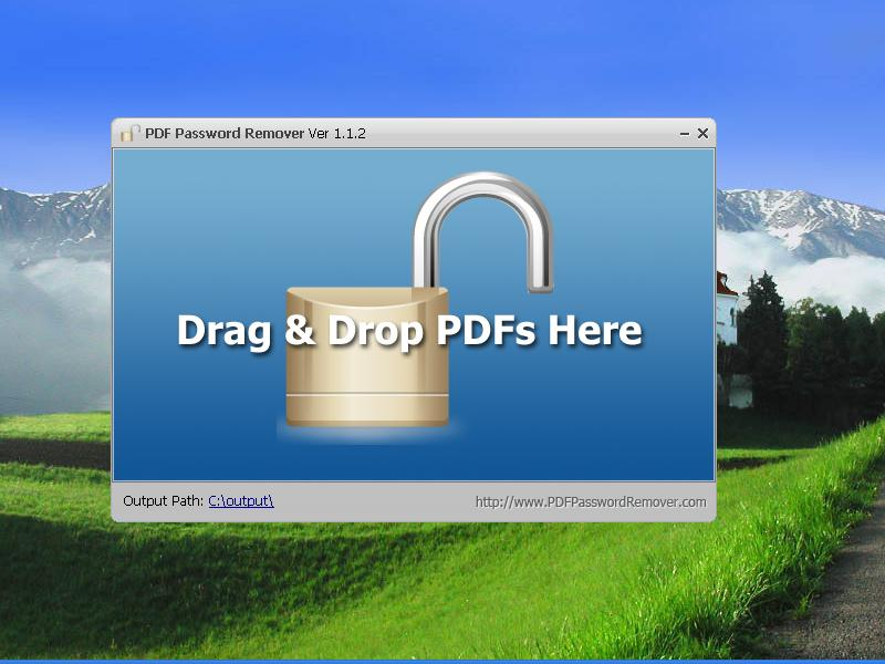 PDF Password Remover removes PDF restriction